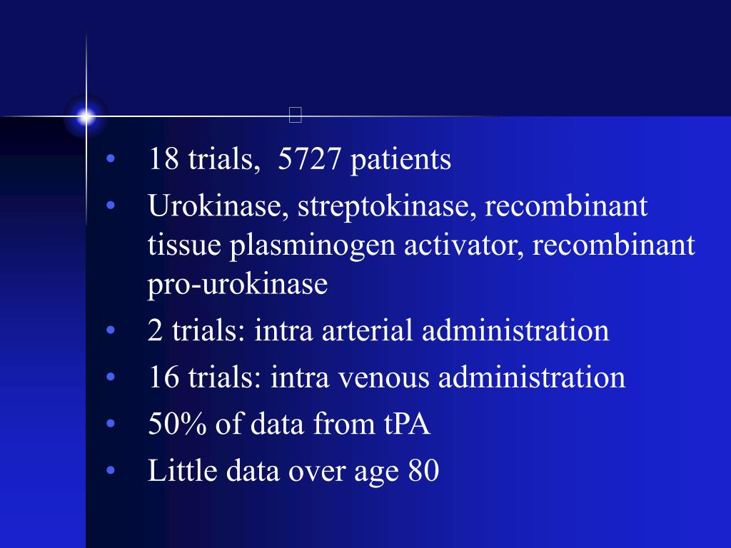 18 trials,  5727 patients
