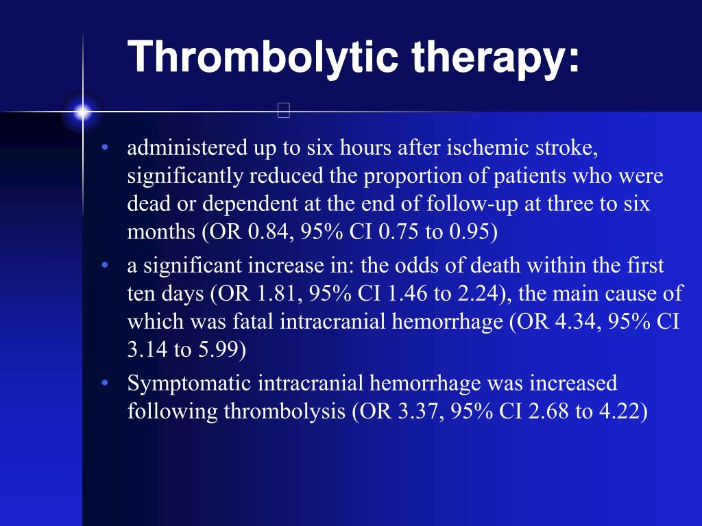 Thrombolytic therapy: