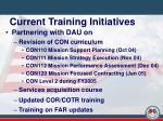 current training initiatives