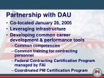 partnership with dau