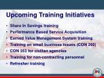 upcoming training initiatives