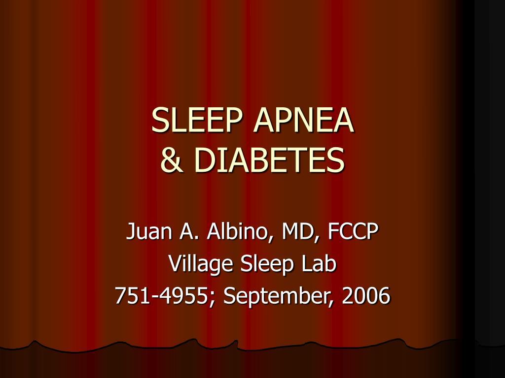 sleep apnea diabetes l.