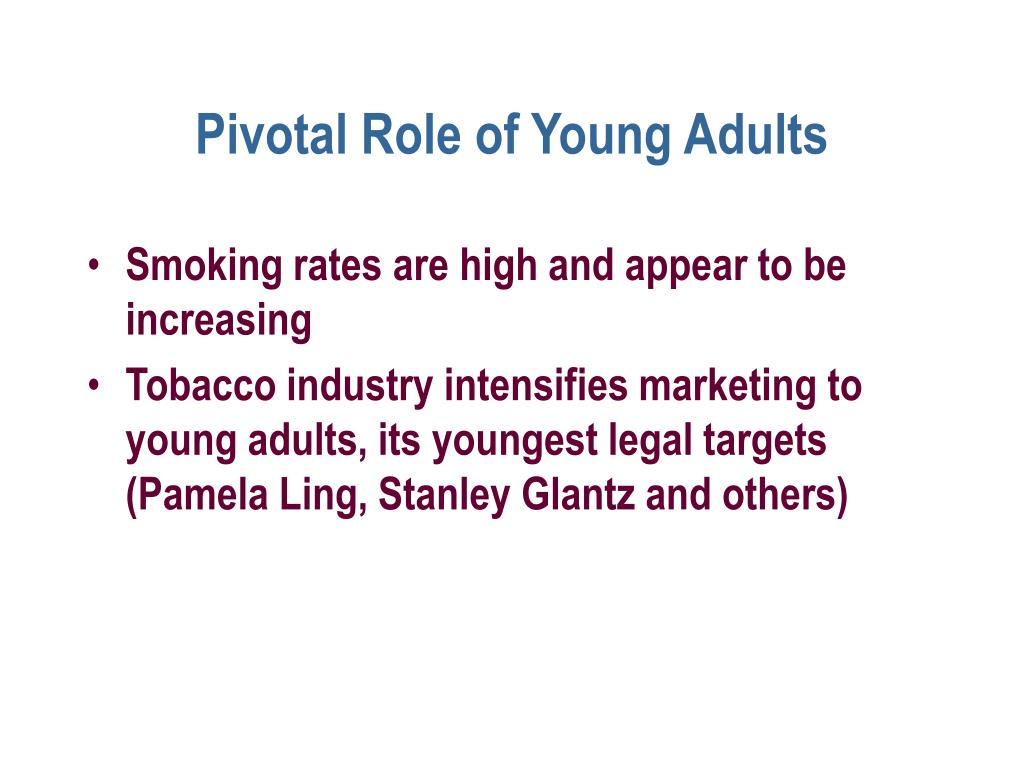 Pivotal Role of Young Adults