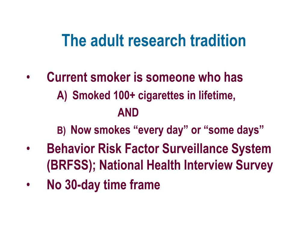The adult research tradition