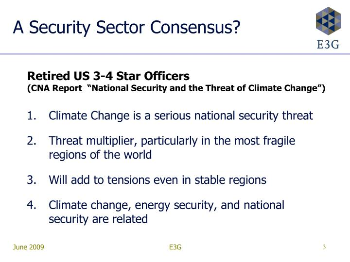 A security sector consensus