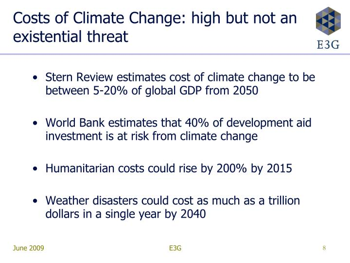 Costs of Climate Change: high but not an existential threat
