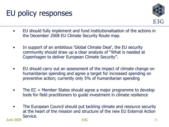 EU policy responses