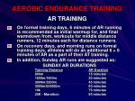 aerobic endurance training54
