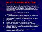 daily training routine
