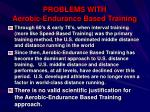 problems with aerobic endurance based training