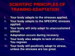 scientific principles of training adaptation