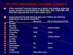 specific endurance training example