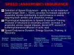 speed anaerobic endurance