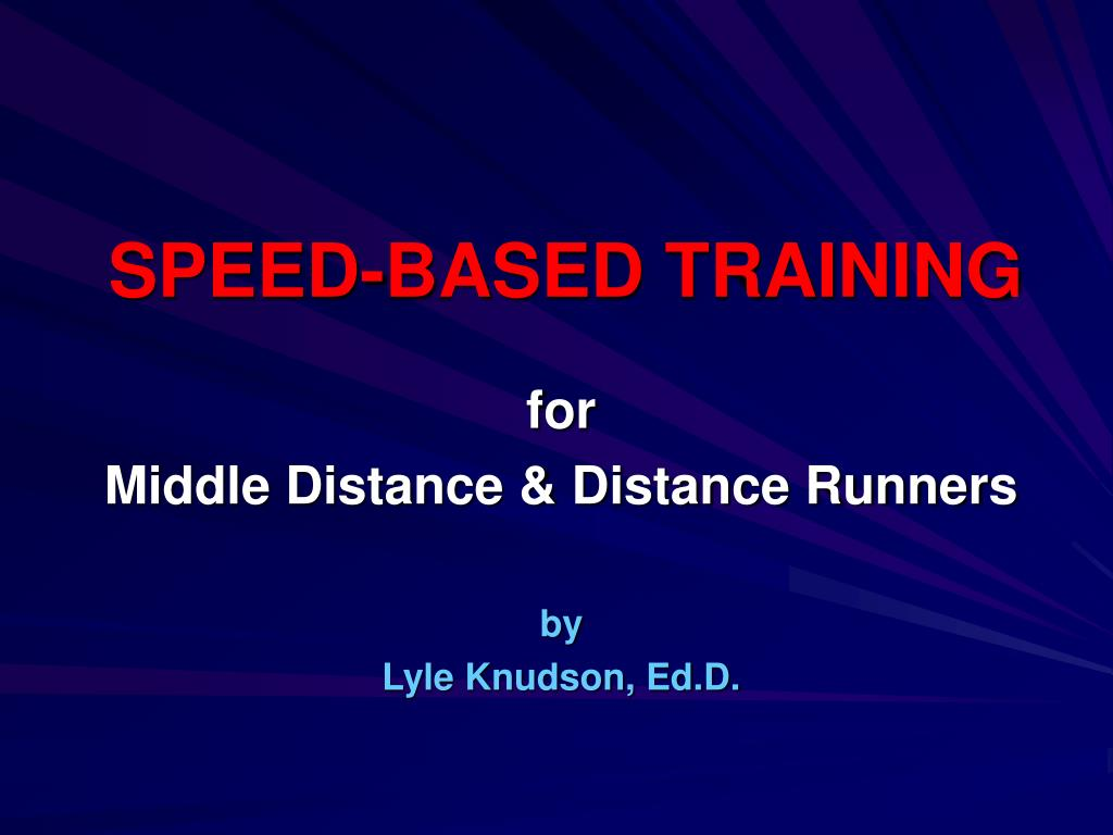speed based training l.