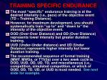 training specific endurance