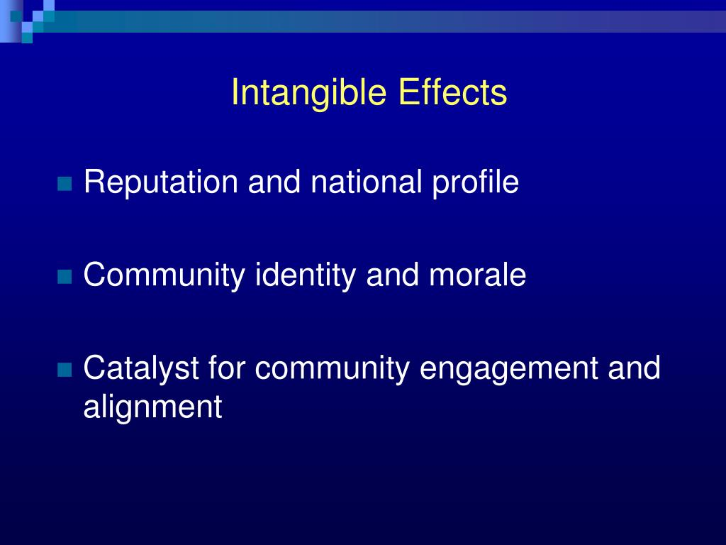 Intangible Effects