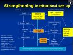 strengthening institutional set up