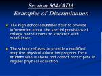 section 504 ada examples of discrimination16