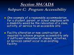 section 504 ada subpart c program accessibility27