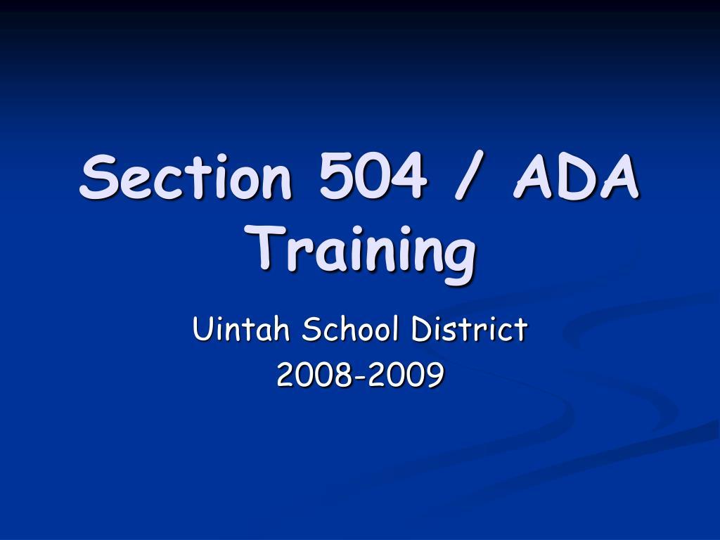 section 504 ada training l.