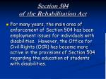 section 504 of the rehabilitation act4
