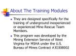 about the training modules4