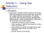 activity 1 using gas detectors25