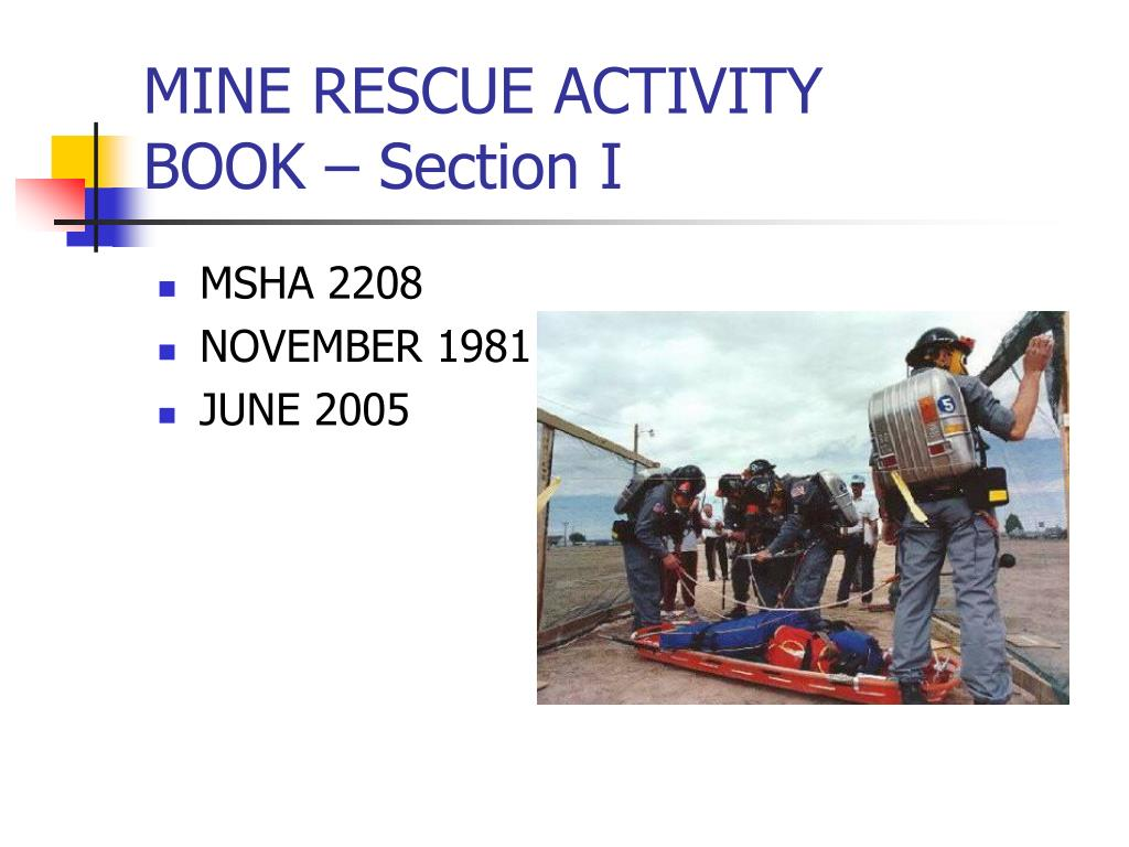 mine rescue activity book section i l.