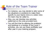 role of the team trainer12