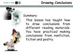 drawing conclusions16