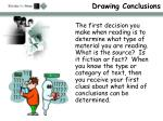 drawing conclusions5