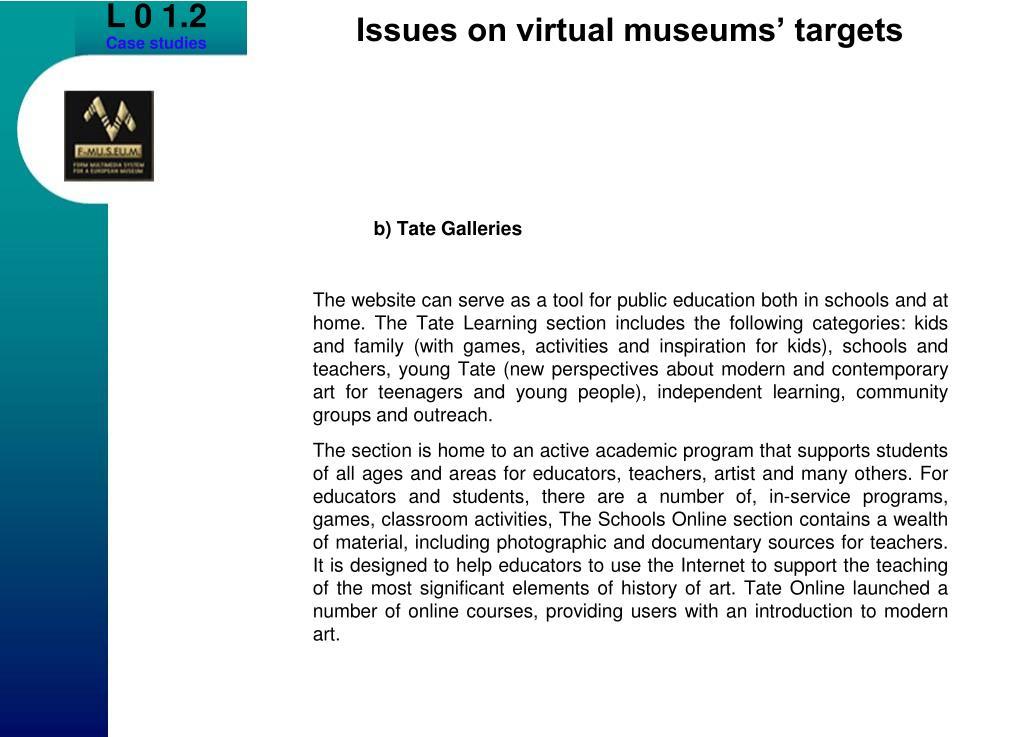 b) Tate Galleries