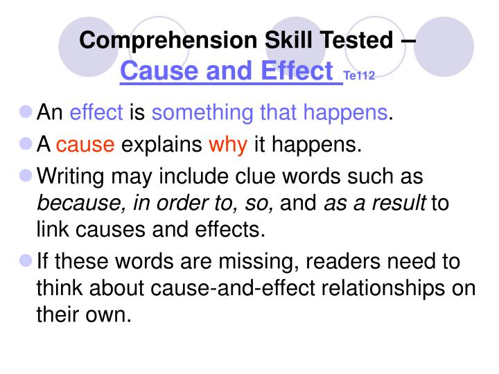 Comprehension Skill Tested