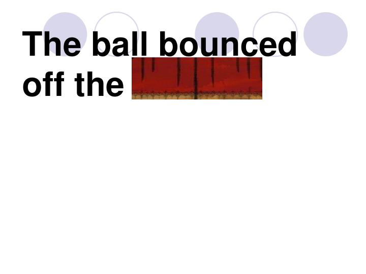 The ball bounced off the rim.