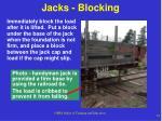 jacks blocking