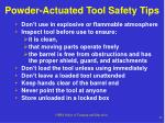 powder actuated tool safety tips