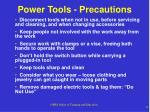 power tools precautions