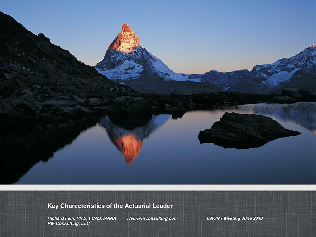key characteristics of the actuarial leader l.