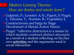 modern leaning theories how our brains and minds learn