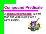 compound predicate