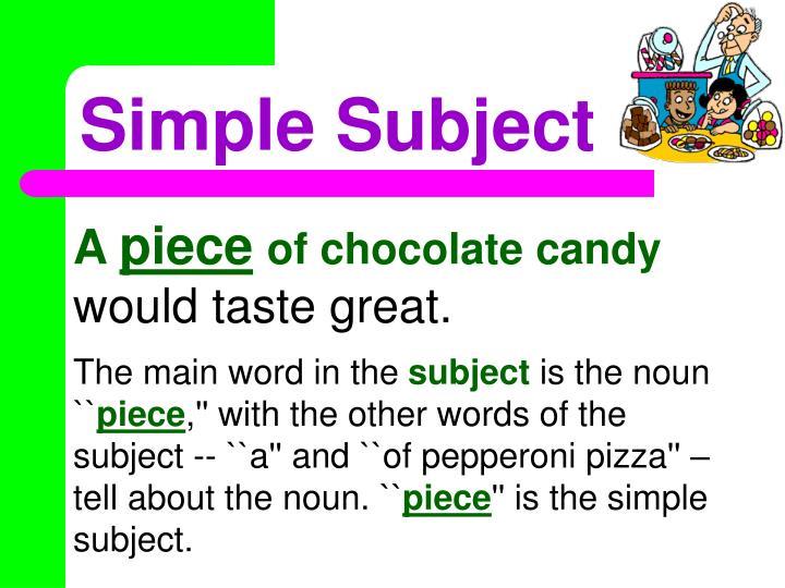 Simple Subject