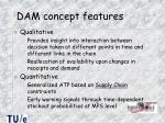 dam concept features