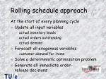 rolling schedule approach