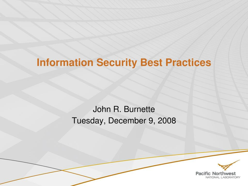 information security best practices l.