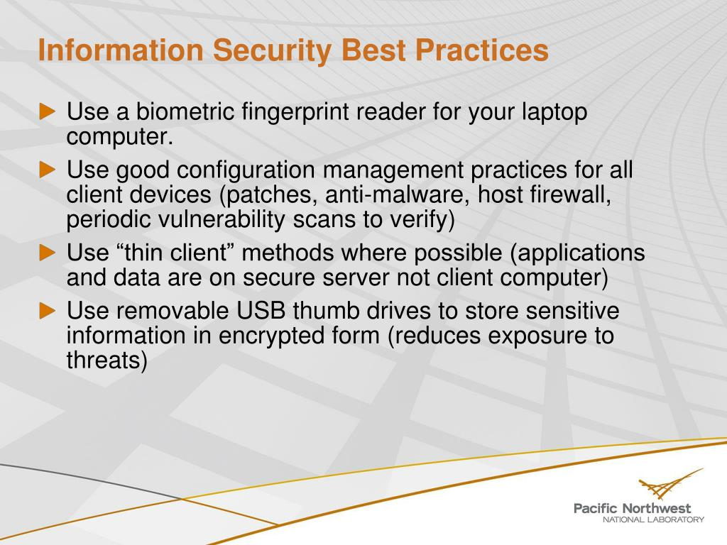 Information Security Best Practices