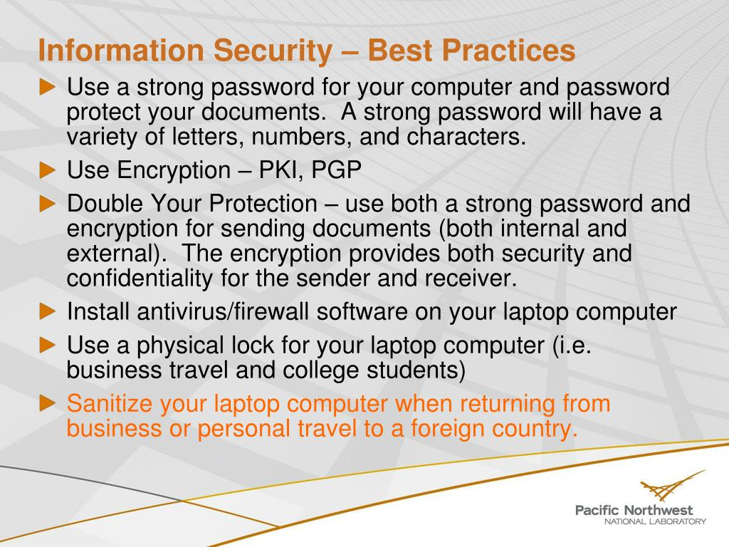 Information Security – Best Practices