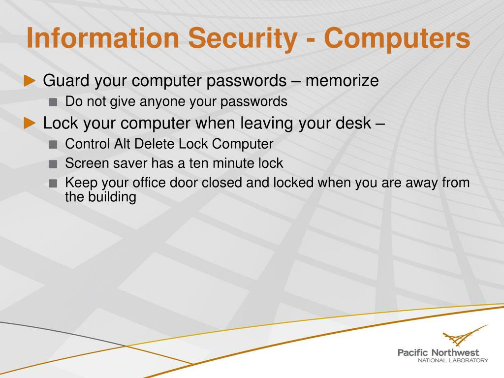 Information Security - Computers