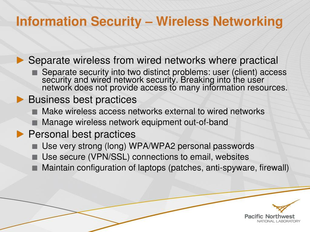 Information Security – Wireless Networking
