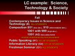 lc example science technology society