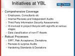 initiatives at ybl12
